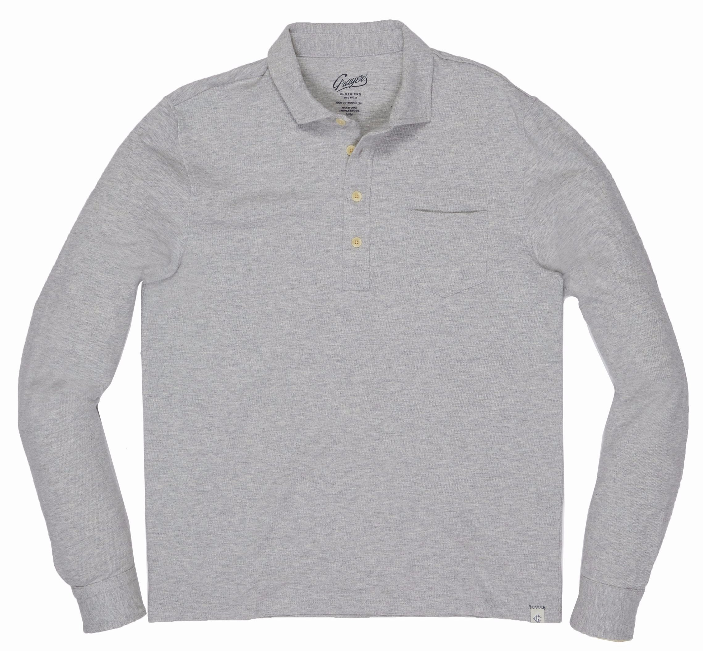 Ainsworth Pique Polo - Gray Heather