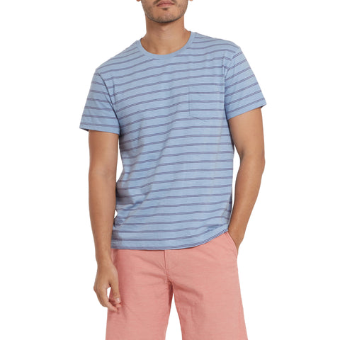 Feeder Stripe Pocket Tee - Forever Blue