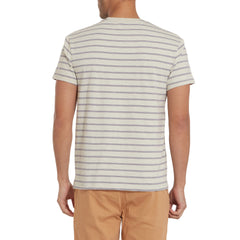 Feeder Stripe Pocket Tee - Faded Gray