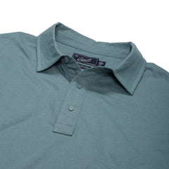Drake Micro Stripe Lux Polo - Stormy Sea-Grayers