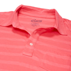 SS Tonal Stripe Polo - Claret Red-Grayers