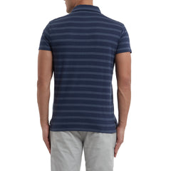 SS Tonal Stripe Polo - Patriot Navy-Grayers
