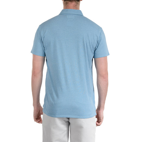 Bayshore Marl Polo - Light Blue-Grayers