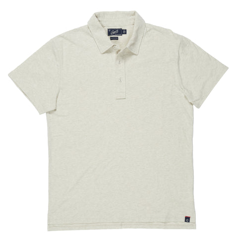 Hartford Nep Heather Jersey Polo - Celadon Tint-Grayers