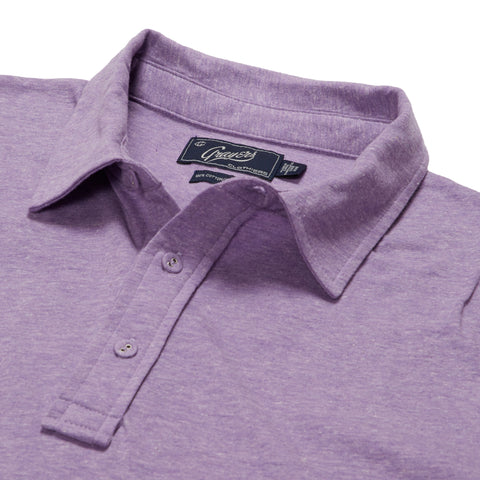 Hartford Nep Heather Jersey Polo - Lavender