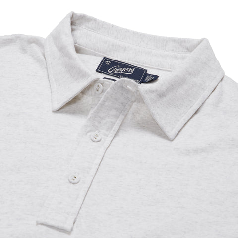 Hartford Nep Heather Jersey Polo - Oatmeal