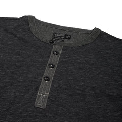 Hartford Nep Jersey Henley - Charcoal-Grayers