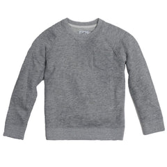 Boy's Montague Twill Terry Crew - Gray Heather-Grayers