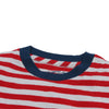 Boy's Cotton Linen Feeder Stripe - Red Stripe