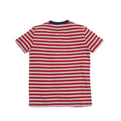 Boy's Cotton Linen Feeder Stripe - Red Stripe-Grayers