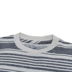 Boy's Printed Stripe Tee - Gray Cream Stripe-Grayers