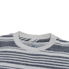 Boy's Printed Stripe Tee - Gray Cream Stripe
