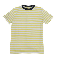 Boy's Cotton Linen Feeder Stripe - Yellow Stripe