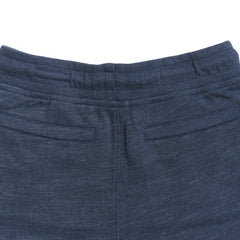 Boy's Montague Twill Terry Drawcord Shorts - Navy Heather-Grayers