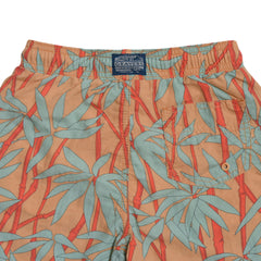 Boy's Bamboo Print Swim Trunk - Bamboo-Grayers