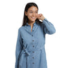 Mimi Chambray Shirt Dress - Light Blue