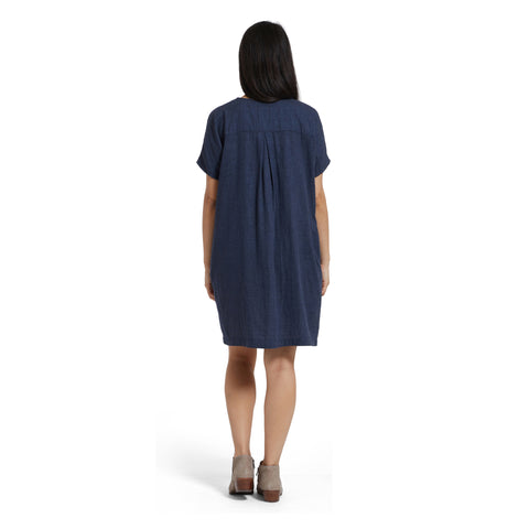 Priscilla Cocoon Dress - Navy Heather