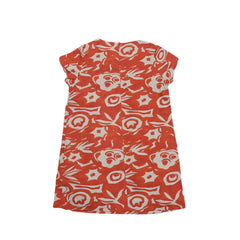 Girl's Printed Sunday Dress - Red Print