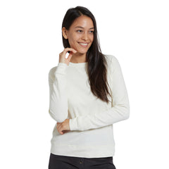 Emma Slim Sweatshirt - Antique White