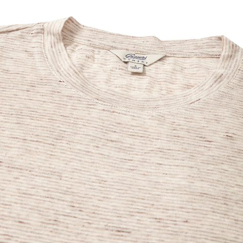 Soldano Linen Tee - Brown Stripe