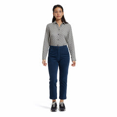 Tracy Stretch Slim Ankle Corduroy Pants - Indigo