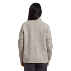 Lambswool Nylon Donegal Cardigan - Anthology