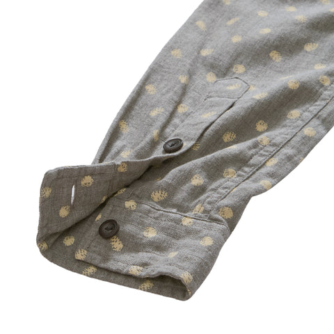 Pine Print Slim Fit Shirt - Gray Print