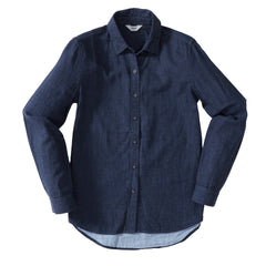 Priscilla Double Cloth Slim Fit Shirt - Navy Heather