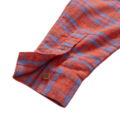 Tartan Oversize Shirt - Red Blue Plaid