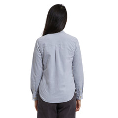 Annabela Slim Fit Stretch Corduroy Shirts - Gray