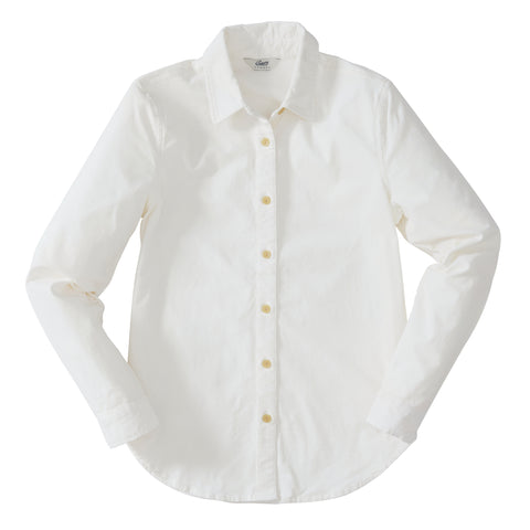 Annabela Slim Fit Stretch Corduroy Shirt - White