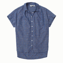 Lauren SS Shirt - Chambray Blue End on End