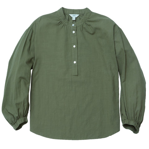 Stacy Popover Blouse - Green