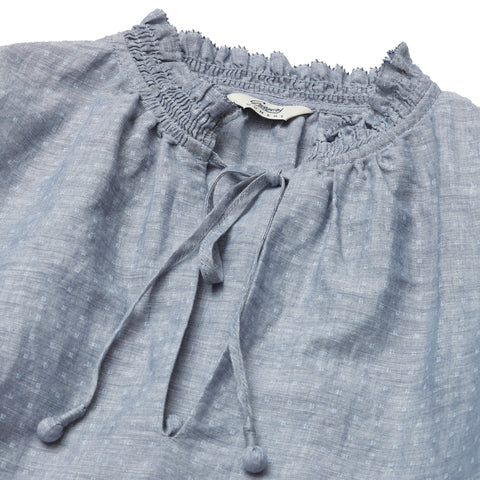 Boho Blouse - Blue Chambray