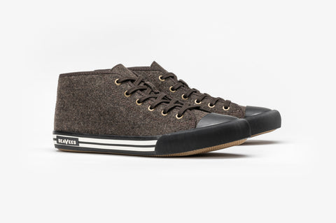 SeaVees + Grayers Limited Edition White Walls Sneaker - Dark Earth Wool-Grayers