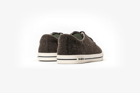 SeaVees + Grayers Limited Edition Hermosa Sneaker Varsity - Dark Earth Wool-Grayers