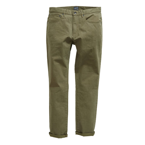 Carnaby Stretch Double Weave 5 Pocket Pant - Dusty Olive