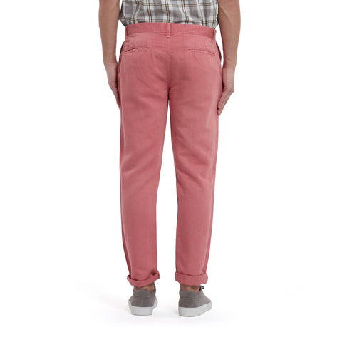 Bermuda Cotton Linen Stretch Slim Fit Pants - Dusty Cedar-Grayers
