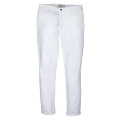 Bermuda Cotton Linen Stretch Slim Fit Pants - White-Grayers