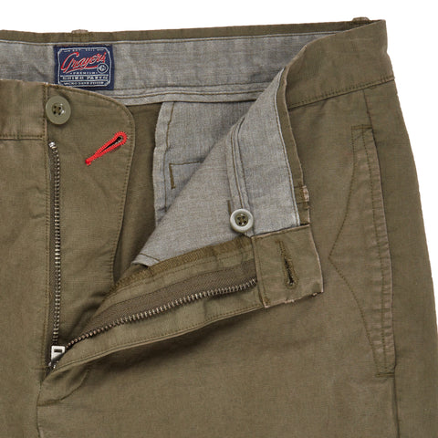 Twill Newport Slim Fit Chino - Olive Green-Grayers