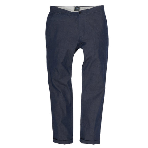 Harrington Broken Twill Stretch Chino - Blue Oxford