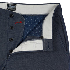 Harrington Broken Twill Stretch Chino - Blue Oxford-Grayers