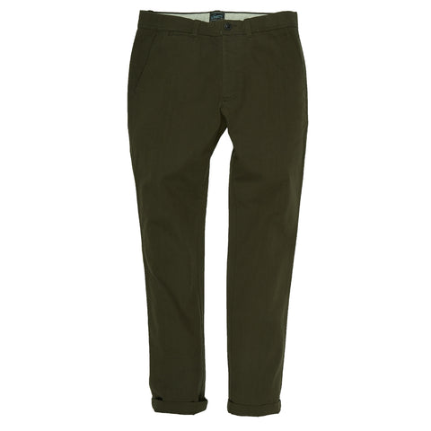 Harrington Broken Twill Stretch Chino - Olive-Grayers