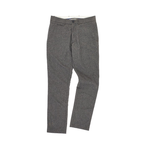 Newport Slim Fit Wool Pant - Mid Gray