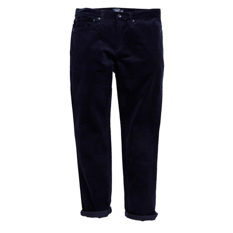 Burlington 5 Pocket  Stretch Corduroy  - Navy