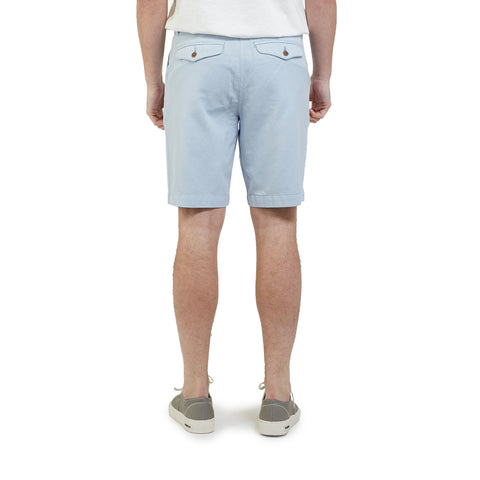 Avery Cotton Linen Stretch Shorts - Light Blue