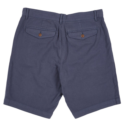 Avery Cotton Linen Stretch Shorts - Ombre Blue