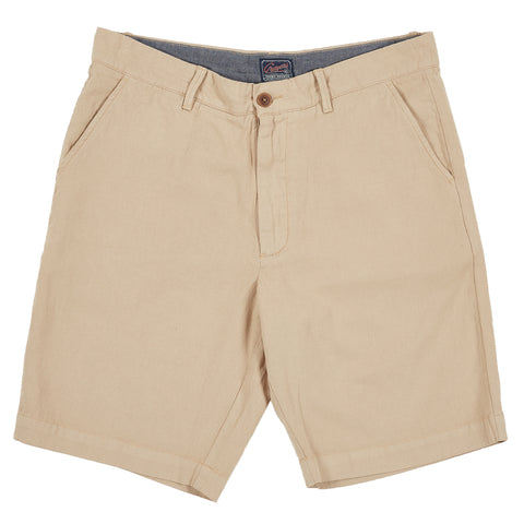 Avery Cotton Linen Stretch Shorts - Semolina