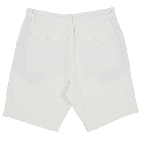 Avery Cotton Linen Stretch Shorts - White