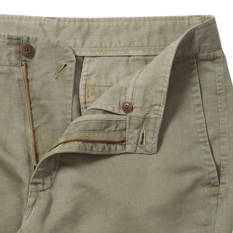Bermuda Cotton Linen Stretch Slim Fit Pants - Mermaid